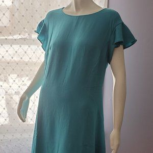 Cold Water Creek Short Ruffle Sleeve Dress NWOT